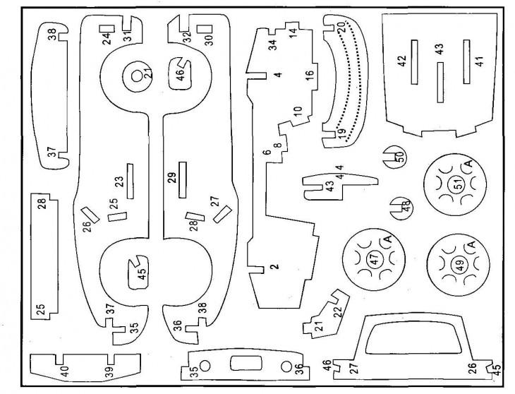 Машина из фанеры своими руками чертежи 3д 89