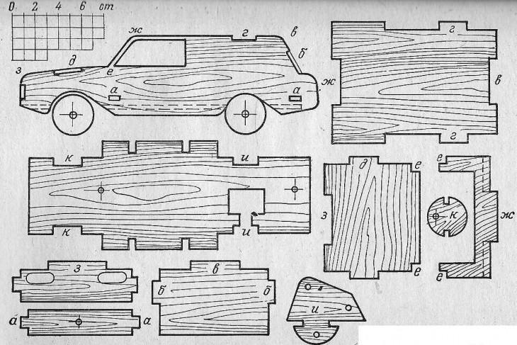Машина из фанеры своими руками чертежи 3д 21