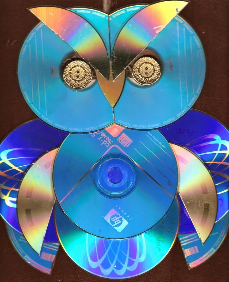Поделки для дачи из сд дисков своими руками 86